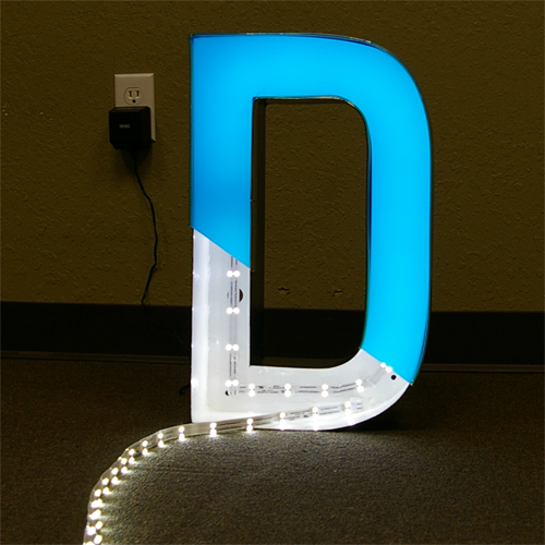 Wholesale LED Channel Letters Signs, Block 3-D Channel Letters ...