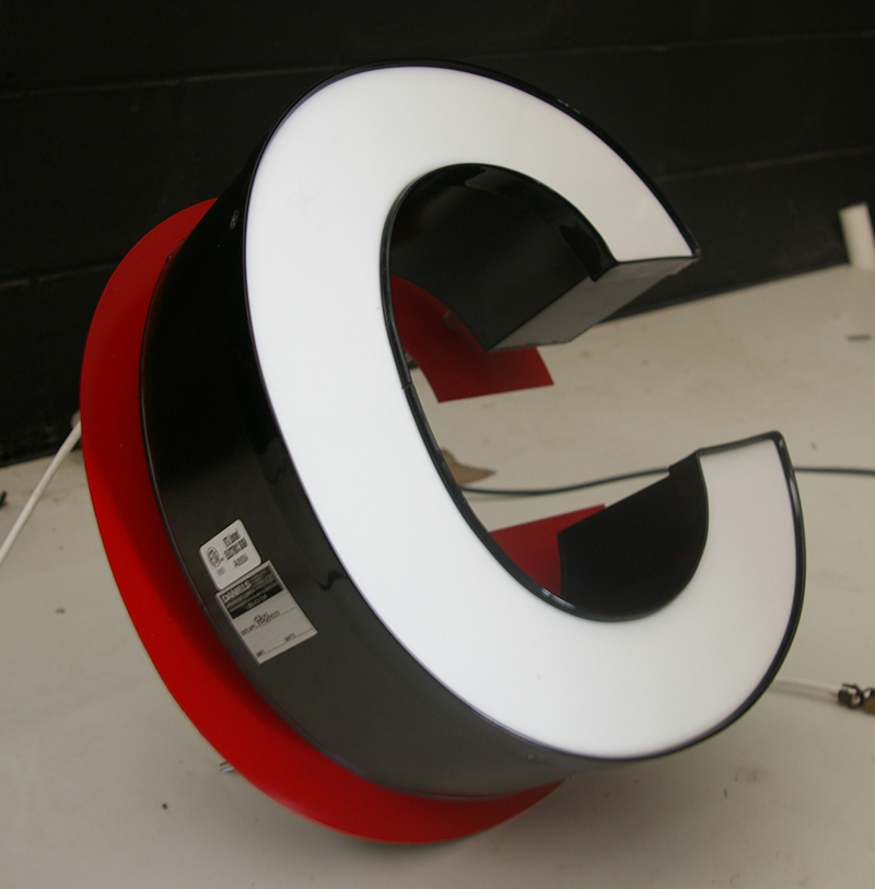 whole led channel letters signs block 3 d channel letters custom cabinet pan face and electronic message center